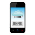 Mobile Phone With Cloud Computing Icon Royalty Free Stock Image - 25005436