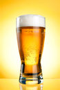 Glass Of Beer Close-up With Froth Royalty Free Stock Photography - 25009637