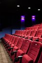 Red Seats Of Cinema Hall Royalty Free Stock Image - 25009986
