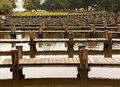 Rows Of Empty Boat Dock Harbor Stock Images - 25023724