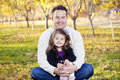 Happy Father And Daughter Portrait Royalty Free Stock Image - 25025396