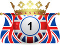 Union Jack Bingo Ball With Crown And Flags Royalty Free Stock Photography - 25034807