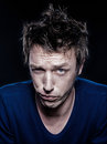 Funny Man Portrait Frowning Doubtful Stock Photos - 25041433