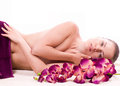 Beauty Spa Woman With Flower Stock Images - 25048274