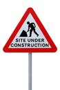 Site Under Construction (with Clippng Path) Stock Photos - 25048993