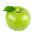 Green Apple Fruits With Leaf Royalty Free Stock Photography - 25050127