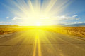 Road To Sun Royalty Free Stock Photo - 25054555