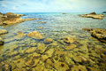 Coastal Sea. Rocks Under The Water Royalty Free Stock Image - 25059086