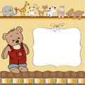 Childish Card With Funny Teddy Bear Stock Images - 25061014