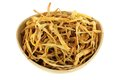 Chinese Medical Herb : A Bowl Of Dried Lily Buds Stock Photos - 25061223