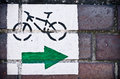 Cycle Path Sign Royalty Free Stock Photo - 25071675