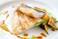 Grilled Turbot Fish With Vegetables. Royalty Free Stock Photography - 25074777