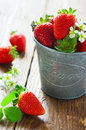 Strawberries In A Bucket Royalty Free Stock Image - 25075306