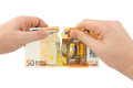 Hands Tear Money Royalty Free Stock Image - 25087206