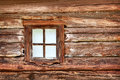 Small Window In The Old Wooden Wall Royalty Free Stock Photo - 25091505
