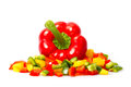 Slices Of Pepper Royalty Free Stock Photo - 25093755