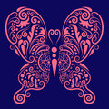 Pink Butterfly Ornament Stock Image - 25098541