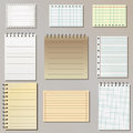 Set Of Note Paper Lists Stock Photography - 25102262