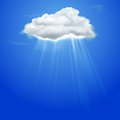 Rays Coming Out Of Cloud Royalty Free Stock Images - 25107849
