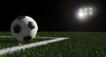 Soccer Ball On The Field Of Stadium Stock Photography - 25113632