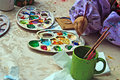 Children Painting Pottery 10 Royalty Free Stock Image - 25116076