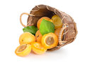 Apricots In A Basket Stock Photos - 25121423