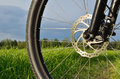 Mountain Bike Wheel With Disc Brake Stock Image - 25128341