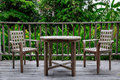 Wooden Table And Chair Set Stock Image - 25129931