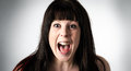 Woman Screaming In Horror Or Terror Stock Photography - 25139482