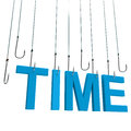 Text Time  Hanging On A Fishing Hook. Stock Photography - 25151102