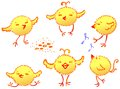 The Funny Chickens Royalty Free Stock Images - 25154809