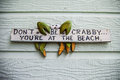 Wooden Beach Sign Stock Photo - 25157330
