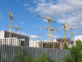 High-rise Buildings Under Construction In Progress. Royalty Free Stock Image - 25158646