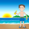 Beach Sand Boy Background Royalty Free Stock Images - 25163429