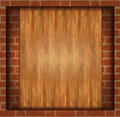 Background Wood Brick Wall Royalty Free Stock Photos - 25167288