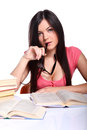 College Girl With Books Stock Photos - 25175923