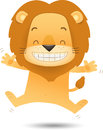 Lino The Lion Jumping With Happy Stock Photos - 25178903