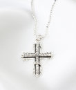 Diamond Cross Necklace Royalty Free Stock Images - 25179419