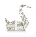 Swan Origami Toy Royalty Free Stock Image - 25184916