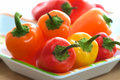 Colorful Mini Sweet Peppers On Serving Tray Royalty Free Stock Photo - 25192395
