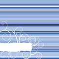Winter Stripe Blue Stock Photography - 2524792