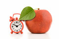 Apple With Green Leaf Royalty Free Stock Images - 25203079