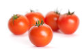 Bunch Of Tomatoes Isolated On White Royalty Free Stock Image - 25203566