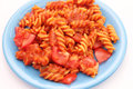 Pasta With Tomato Sauce Royalty Free Stock Photography - 25216137