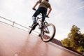 BMX Bicycler On  Ramp Stock Photos - 25222553