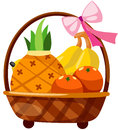 Fruits In Basket Royalty Free Stock Photography - 25222997
