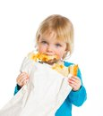 Girl With Bread Royalty Free Stock Photography - 25234017