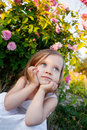 Girl In Rose Garden Stock Photos - 25236633
