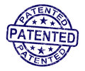 Patented Stamp Showing Registered Patent Or Trademark Stock Images - 25243384