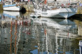 Boats And Big Reflections In The Sea Of Honfleur I Stock Photos - 25245353